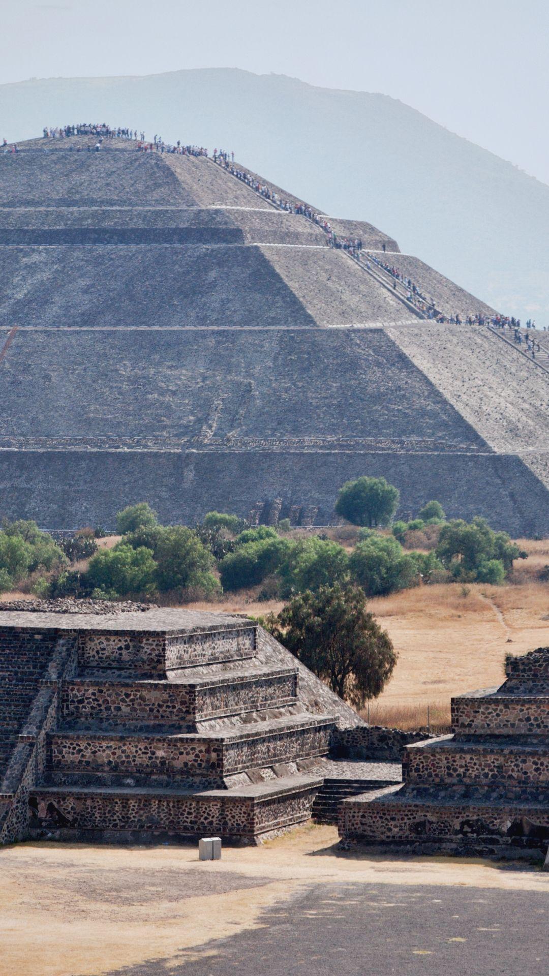 Vista da Pirâmide do Sol em Teotihuacan